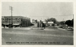 East Bay Auto Camp, Entrance, 48th and San Pablo Ave., Oakland, California